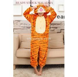 [READY ] Tiger Kids Pajamas Cosplay Kigurumi Onesie Costume Sleepwear