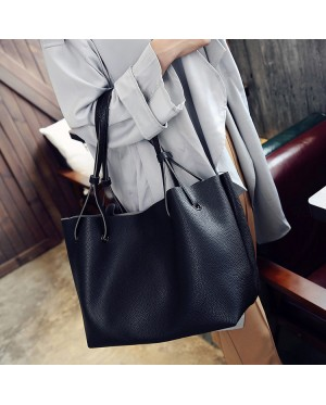 2in1 Large Shoulder Tote Bag with Purse Set