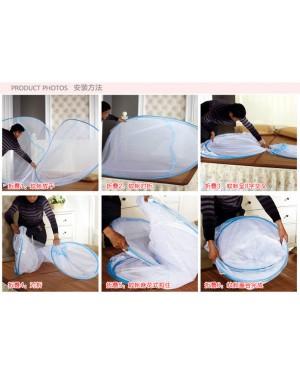 Self Standing Foldable Mosquito Net/ Kelambu Nyamuk