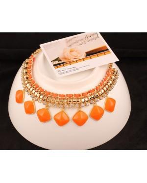 Angel Rhinestone Statement Necklace + FREE Gift box