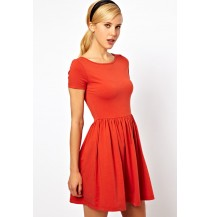 Kate Midi dress (Red)