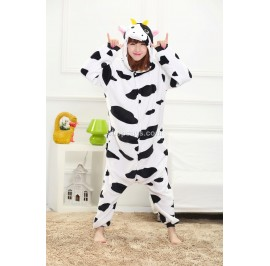 Milk Cow Unisex Adult Pajamas Cosplay Kigurumi Onesie Anime Costume Sleepwear