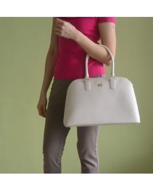 Guy Laroche Saffiano Leather Tote bag - Cream
