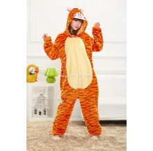 [READY ] Tiger Adult Pajamas Cosplay Kigurumi Onesie Costume Sleepwear