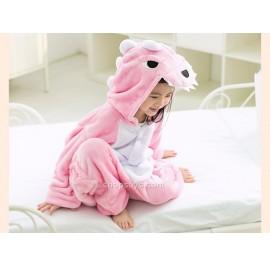 [READY ] Pink Dinosaur Kids Pajama Cosplay Kigurumi Onesie Anime Costume