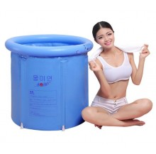 Inflatable Foldable Bath Tub Spa for adult (Light blue)