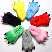 [READY ] Onesie Animal Paw Slipper Soft Plush Indoor Shoes
