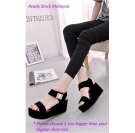Korean Stylish Wedge Platform Ladies Shoes