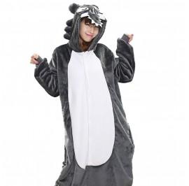 [READY ] Wolf Adult Unisex Pajamas Cosplay Kigurumi Onesie Costume Sleepwear