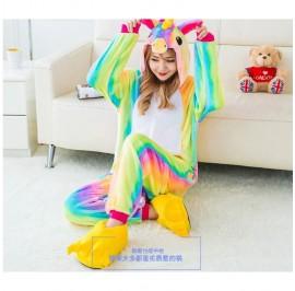 [READY MY] Rainbow Unicorn Adult Unisex Pajamas Cosplay Kigurumi Onesie Costume Sleepwear