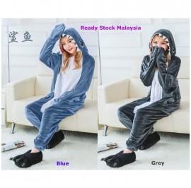 [READY ] Shark Adult Unisex Pajamas Cosplay Kigurumi Onesie Costume Sleepwear