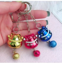Fortune Lucky Cat Keychain Keyring Accessories