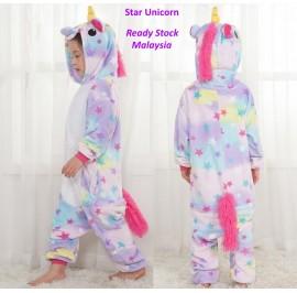 [READY MY] Star Unicorn Kids Children Pajamas Cosplay Kigurumi Onesie Anime Costume