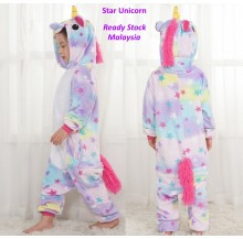 Star Unicorn Kids Children Pajamas Cosplay Kigurumi Onesie Anime Costume