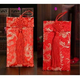 M'sia Stock Brocade Red Packet AngPao CNY AngPow Wedding Envelope