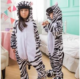 Zebra Kids Children Pajamas Cosplay Kigurumi Onesie Anime Costume