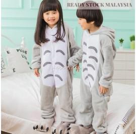 [READY ] Grey Cat Kids Children Pajamas Cosplay Kigurumi Onesie Anime Costume