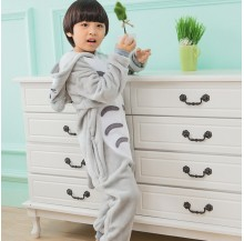Grey Cat Kids Children Pajamas Cosplay Kigurumi Onesie Anime Costume