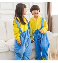 Yellow Kids Children Pajamas Cosplay Kigurumi Onesie Anime Costume