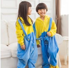 Yellow Kids Children Pajamas Cosplay Kigurumi Onesie Anime Costume