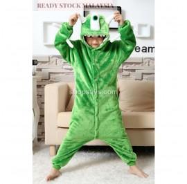 [READY ] Green Monster Kids Children Pajamas Cosplay Kigurumi Onesie Anime Costume