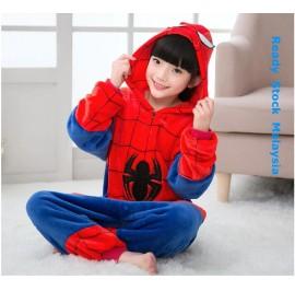Spider Kids Children Pajamas Cosplay Kigurumi Onesie Anime Costume