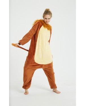 [READY ] 3D Lion Adult Unisex Pajamas Cosplay Kigurumi Onesie Costume Sleepwear