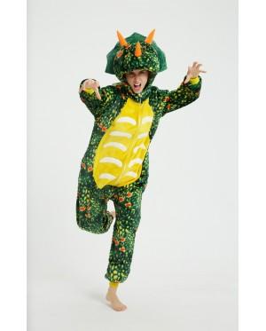 [READY ] 3D Triceratops Dinosaur Adult Unisex Pajamas Cosplay Kigurumi Onesie Costume Sleepwear