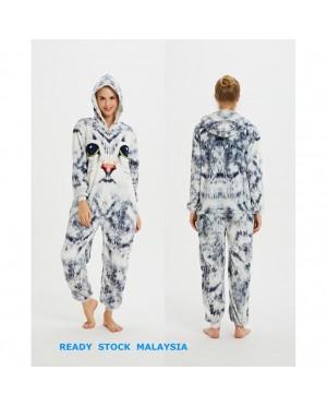 [READY ] 3D Cat Adult Hooded Unisex Pajamas Cosplay Kigurumi Onesie Costume Sleepwear