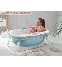 Thick Portable Adult Folding Bathtub SPA Pool Bath Tub (M size)